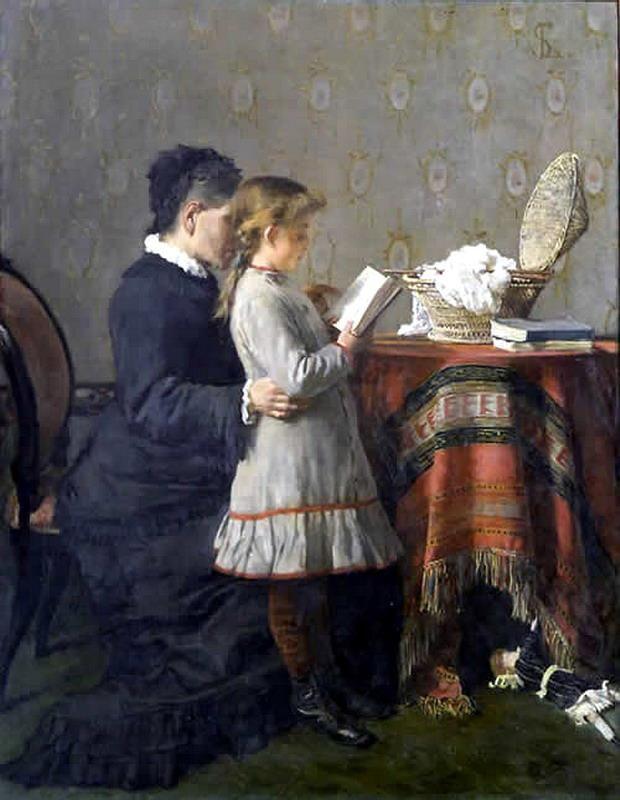 Silvestro Lega, La lezione, 1880-81
