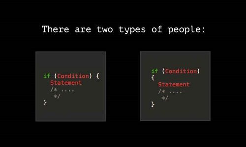 There are two type of people jokes only web designers