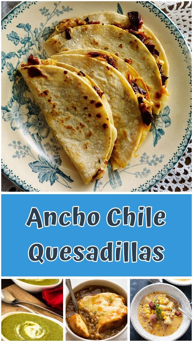 Ancho Chile Quesadillas This Low Sodium Meal Plan For Aging