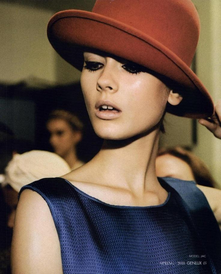 Model RealnessModels, Jac Jagaciak, Makeup Fashion, Style, Mad Hatters, Beautiful, Spring Summer, Vintage Hats, Spring 2010