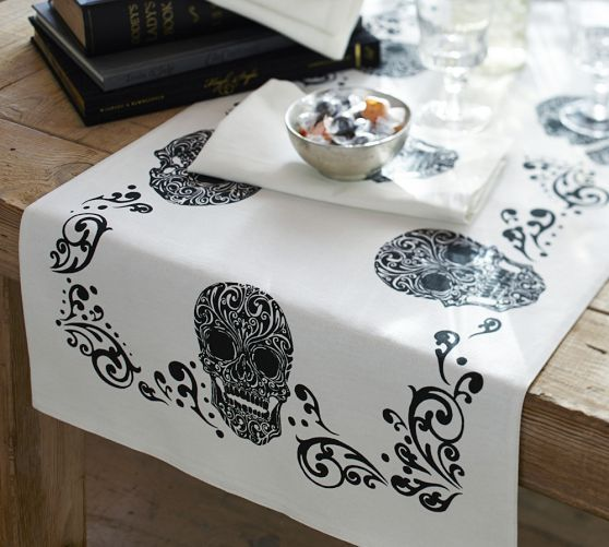 day of the dead table runner pottery barn again this is another product