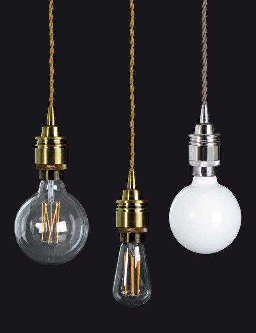 Lámparas Oliva. Lámparas. de Techo. Cable textil bronce