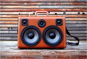 Boomcase is a rechargeable vintage suitcase boombox handmade in California. Each Boomcase is made with repurposed vintage suitcases, and can play music for over 10 hours on a single charge