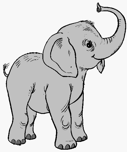 Outline Drawings of Elephants Elephant Outline Trunk up up ...