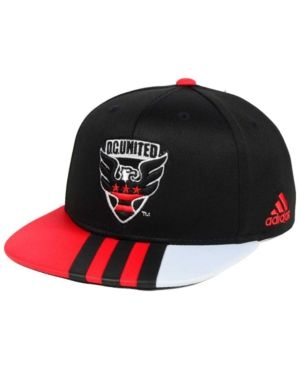 adidas Kids' Dc United Authentic Snap Cap - Black Adjustable