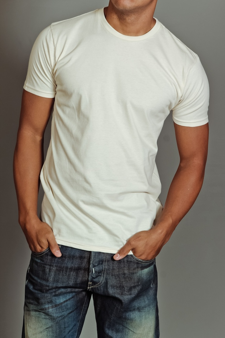 every guy should wear a good fitted white t-shirt and awesome ...