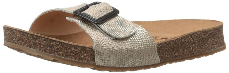 Haflinger Women's Tr Gina Dusty Gold Flat Sandal ** To view further, visit now - Women's Flats Sandals