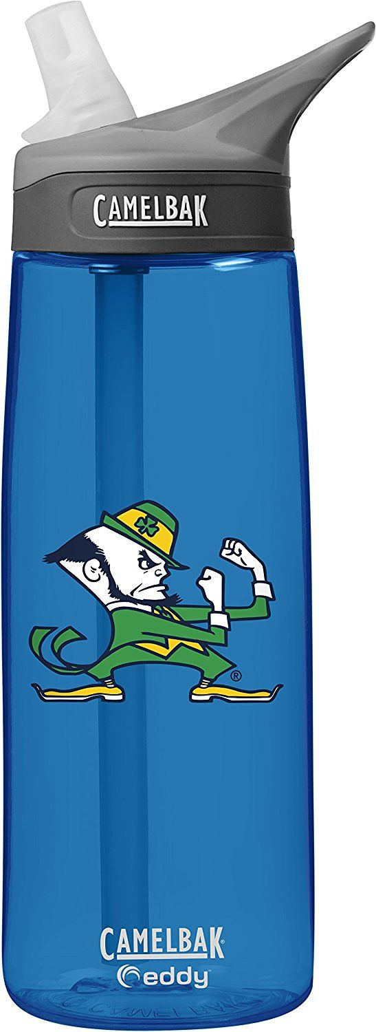 NCAA Notre Dame Fighting Irish Unisex CamelBak Eddy 75L Collegiate Water Bottle, Oxford, 75 Liter