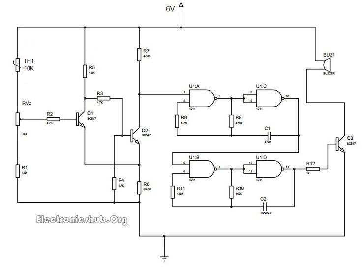 A E D B A Dbd E De Electronic Schematics Circuit Diagram on Continuity Tester Circuit Diagram – Electronicshub Org
