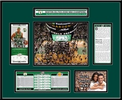 2008 NBA Finals Ticket Frame - Boston Celtics Champions. If you were fortunate to attend the 2008 NBA Finals, you witnessed basketball history and your ticket deserves a display as special as the event. Capture the memory of the Boston Celtics' 17th championship with a 2008 NBA Finals Ticket Frame