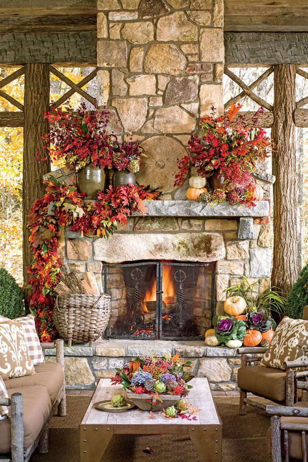 40 Rustic Living Room Ideas To Fashion Your Revamp Around: Best 25+ Fall Fireplace Ideas On Pinterest