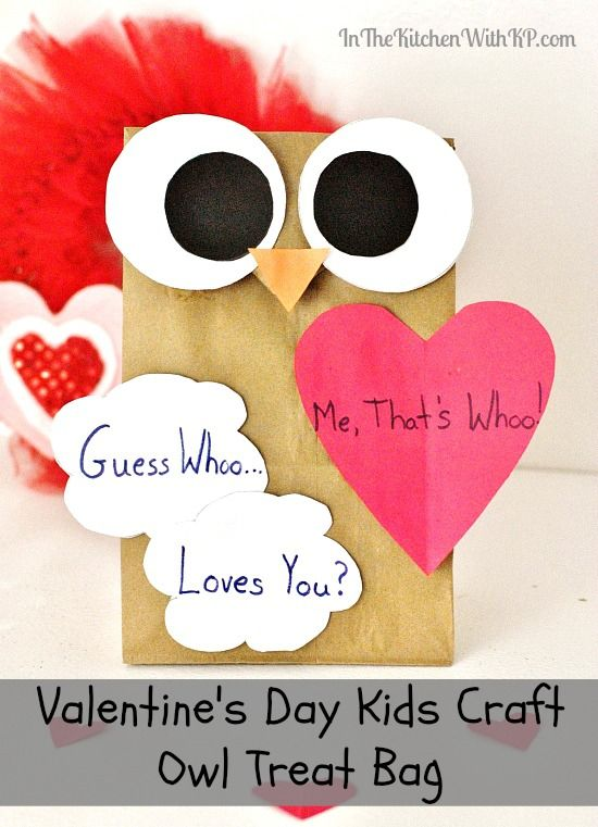Homemade Owl Gift Bag Kid Craft For Valentine S Day Kid Fun