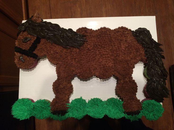 Horse cupcake cake                                                                                                                                                     More