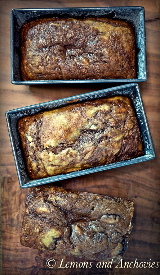 Banana Nutella Bread. Made this yesterday and it was AWESOME!