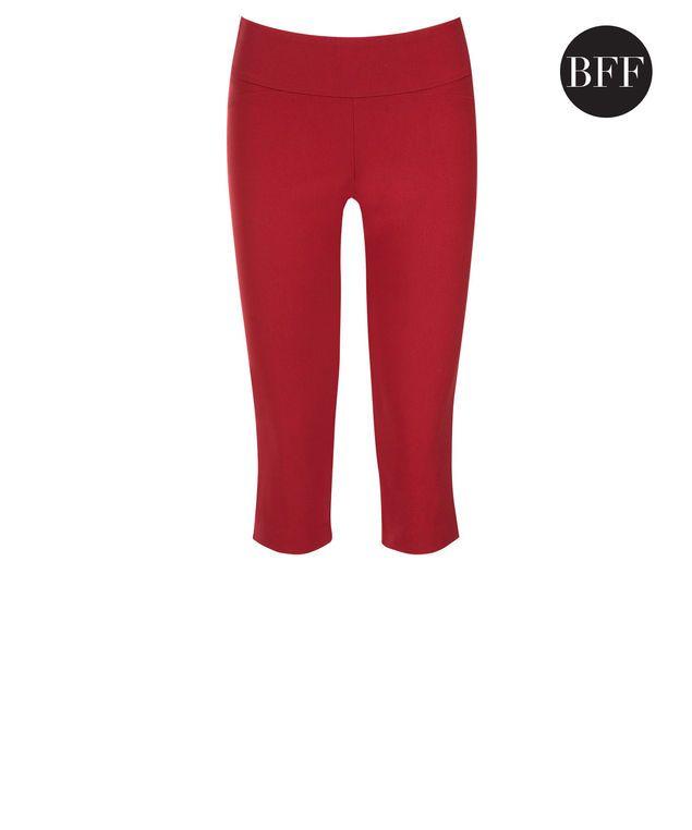 Microtwill Super Slim Leg Capri, Poppy Red #loverickis #rickisfashion #rickis #instantoutfit #instantOOTD #summer #summer2017 #summerfashion