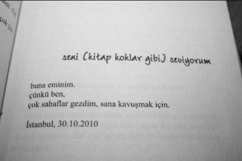 seni kitap koklar gibi seviyorum