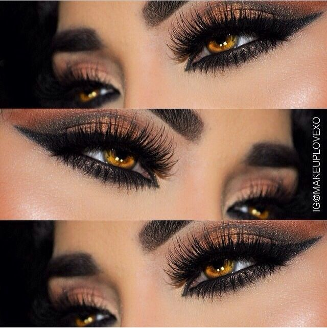 GORGEOUS Neutral Smokey Eye Makeup - Dramatic Winged Eyeliner - Lashes - Hazel Eyes ❤︎