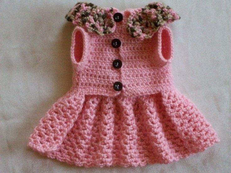 Crochet Dog Dresses | Crocheted Pet Dog Cat Clothes Apparel Sweater Dress Coat Vest XS Baby ...