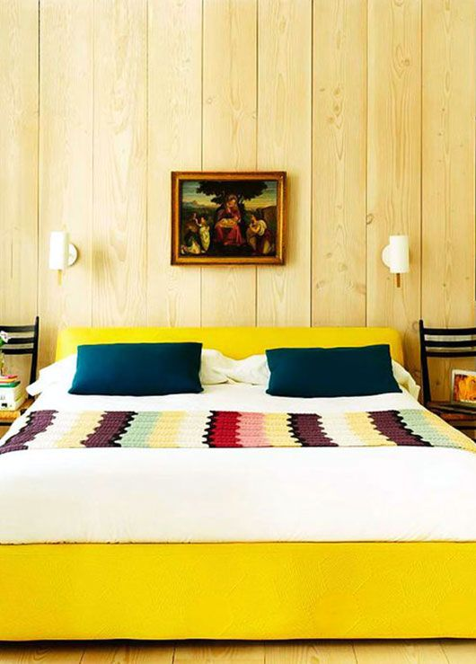 Looks a little like a cheap motel room, but I like the colors and the crochet