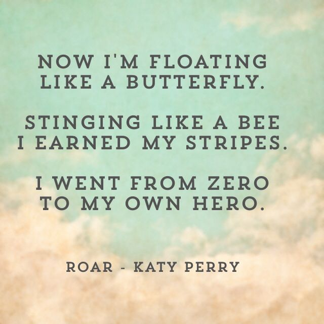 Roar Katy Perry song quote