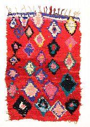 Marokkaanse Berber tapijt Boucherouite 185 x 125 cm