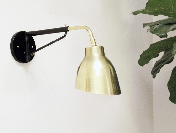 A de T 'Navire' BRASS sconce jib lamp