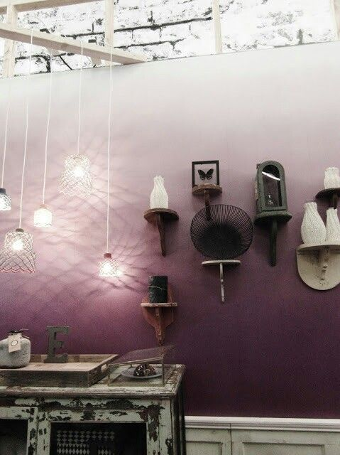 Purple ombre walls- gorgeous!