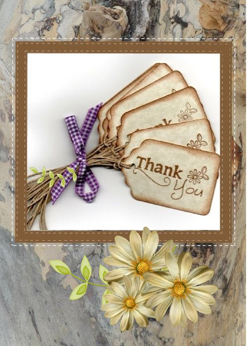 A beautiful thank you card with matching flowers on the inside!   This is a real card (not an e-card) shared from Sendcere.  #ThankYou