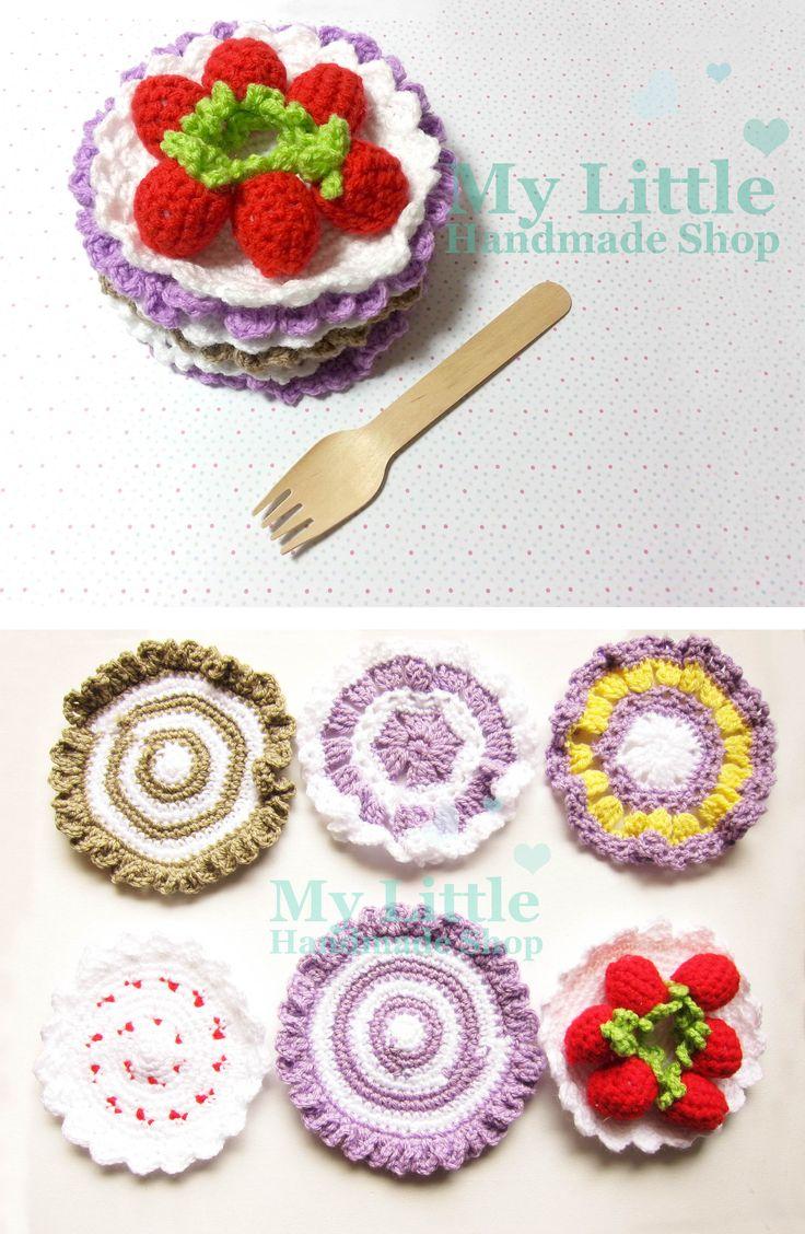 Crochet 6 pieces coaster