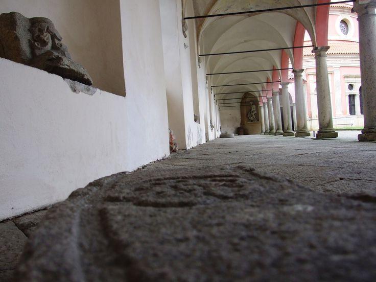 Jindřichův Hradec- Pavement in the arcade corridor