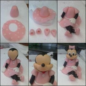 Tutorial Minnie Mouse topper  – bolo decorado