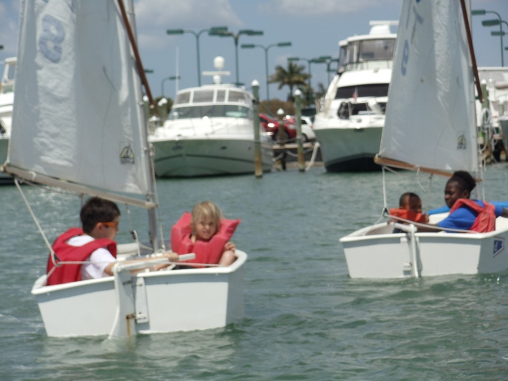 Sailing Lessons with Captain Les are available during Summer Camp Sessions 2012!  Contact Concierge for more information and learn how to sail like a pro at The Club!