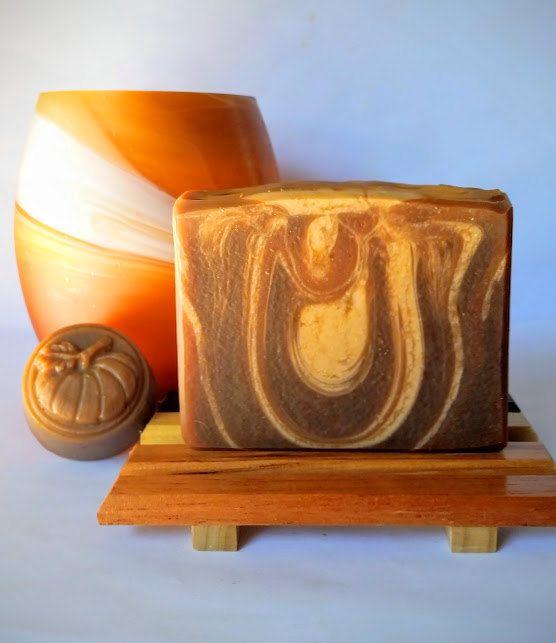 Pumpkin Soap  Homemade Soap Vegan Soap Cold by EmilysHandmadeSoaps