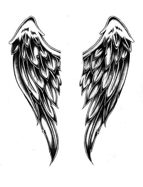 Картинки татуировок крылья ангела что