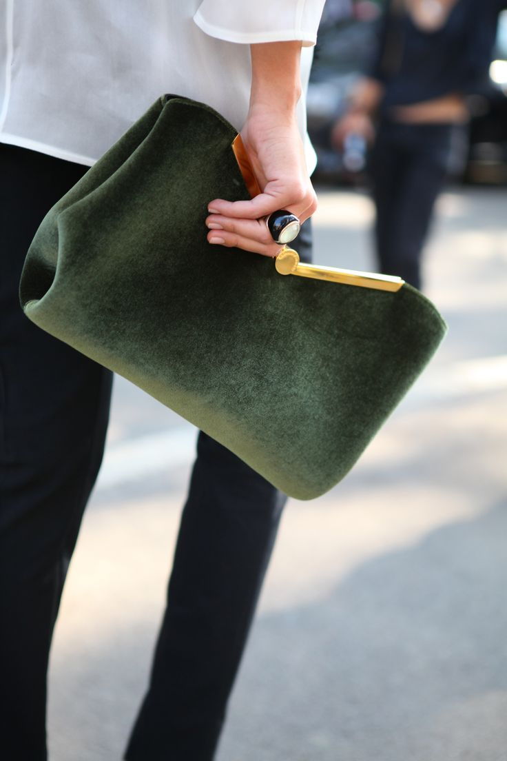 chic green clutch
