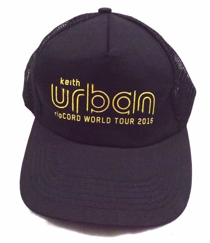 Keith Urban Trucker Hat, 2016 Rip cord World Tour, NWOT, One Size Fits Most