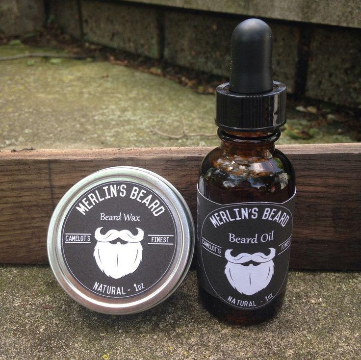 Merlin's Beard Wax and Oil - Beard Care Kit by MerlinsBeardProducts on Etsy https://www.etsy.com/listing/182993100/merlins-beard-wax-and-oil-beard-care-kit