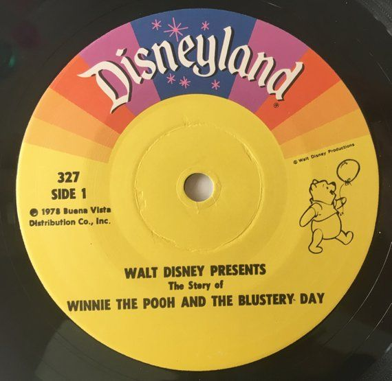 Winnie The Pooh And The Blustery Day 7 Vinyl Record Etsy Disney Presents Vinyl Records Children S Record