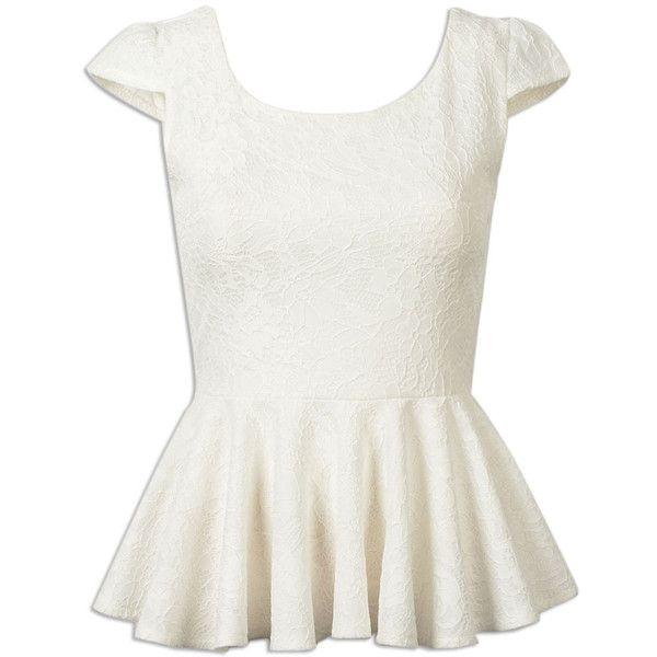 Choies White Ruffle Hem Cap Sleeve Lace Top (43.205 COP) ❤ liked on Polyvore featuring tops, blouses, shirts, choies, white, cap sleeve blouse, white lace top, lacy white blouse, white blouse and lace cap sleeve shirt