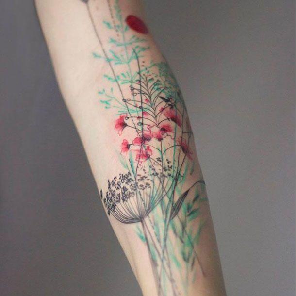 die besten 25 bunte tattoos ideen auf pinterest bunte kunst bunte t towierungen und malerei. Black Bedroom Furniture Sets. Home Design Ideas