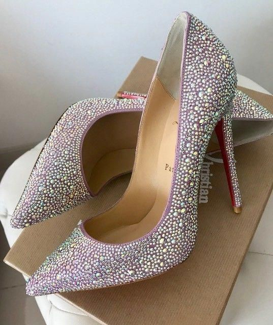 a3de79aed302 CHRISTIAN LOUBOUTIN SWAROVSKI CRYSTAL STRASS SO KATE 120MM HEELS SHOES 39   ChristianLouboutin