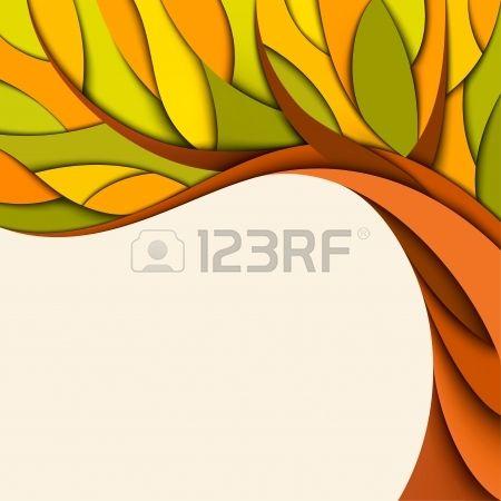 Herfst boom achtergrond Vector illustratie Stockfoto