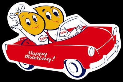 Esso happy motoring car sign garages that rock for Garage happy car