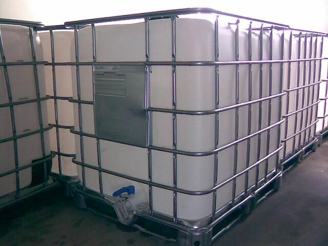 IBC 1000l Containers for aquaponics and water storage.