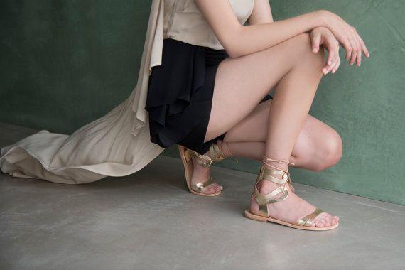 Artemis semi-gladiator sandal by LoveFromCyprus