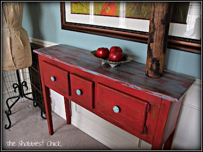 Homemade Chalk Paint Rustic Red