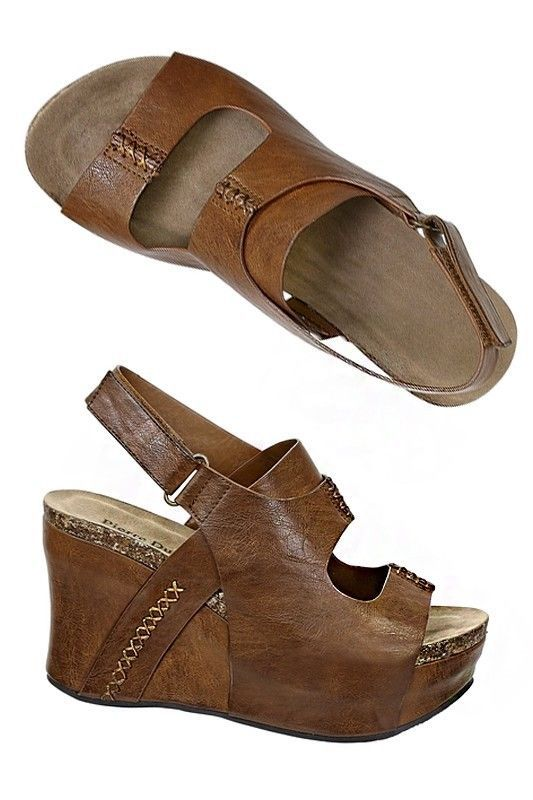 fab7747010dd Pierre dumas whiskey vegan leather wedge sandals 6
