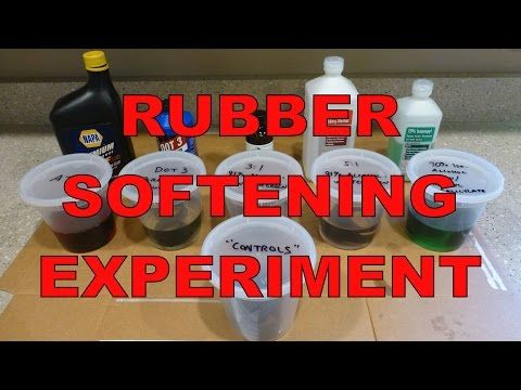 Rubber Softening Experiment : Wintergreen Oil, Brake Fluid, ATF & More - YouTube