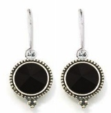 Beautiful black drop earrings