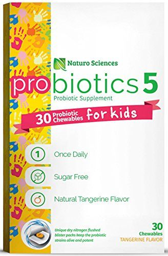 Naturo Sciences, Childrens Chewable Probiotic, Kids Digestive Immune Defense Probiotics, Nitrogen Filled Blister Packs for Best Product Freshness, 30 Once Daily Sugar Free Natural Tangerine Favor *** See this great product.
